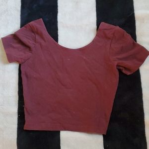 American apparel burgundy crop top